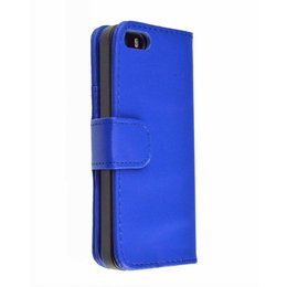 iPhone 5 / 5S /SE Wallet Case Portemonnee Blauw