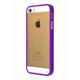 iPhone SE / 5 / 5S 2 in 1 Bumper Back Cover Case Paars