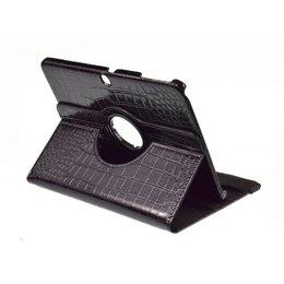 Samsung Galaxy Tab 3 10.1 Rotating Case Croco Zwart