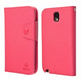 Galaxy Note 3 N9000/N9005 TPU MLT Book Case Portemonnee Donker Roze