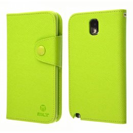 Galaxy Note 3 N9000/N9005 TPU MLT Book Case Portemonnee Groen
