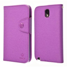 Galaxy Note 3 N9000/N9005 TPU MLT Book Case Portemonnee Paars