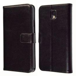 KDS Galaxy Note 3 Vintage Book Style Wallet Case Portemonnee Zwart