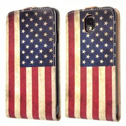 Vintage Galaxy Note 3 Vintage Flip Cover Case USA