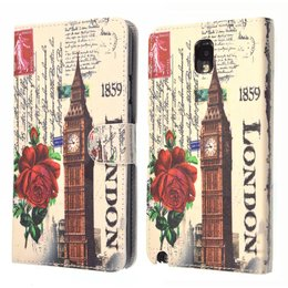 Galaxy Note 3 Vintage Wallet Case Portemonnee London