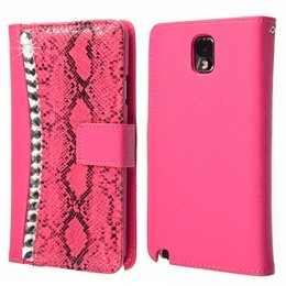 Galaxy Note 3 Strass-Accenten Wallet Case Cover Roze