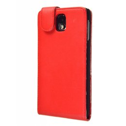 Samsung Galaxy Note 3 Faux Flip Case Rood