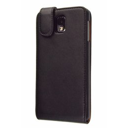 Samsung Galaxy Note 3 Faux Flip Case Zwart