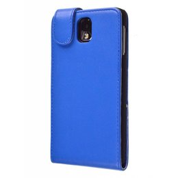 Samsung Galaxy Note 3 Faux Flip Case Blauw