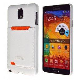 TETDED Samsung Galaxy Note 3 Lederen Pashouder Wit