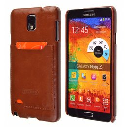 TETDED Samsung Galaxy Note 3 Lederen Pashouder Bruin