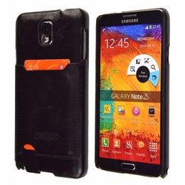 TETDED Samsung Galaxy Note 3 Lederen Pashouder Zwart