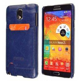 TETDED Samsung Galaxy Note 3 Lederen Pashouder Blauw