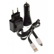 EKA 3 in 1 Micro USB Lader Set Zwart