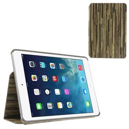 Apple iPad Mini Hout Print Flip Stand Case - Grijs