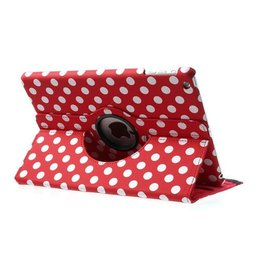 Apple iPad Air (iPad 5) 360 Rotating Case Polka Dots Rood