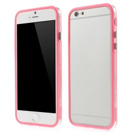 Apple iPhone 6 / 6S Transparant TPU Bumper Case Roze