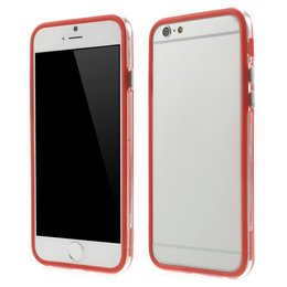 Apple iPhone 6 / 6S Transparant TPU Bumper Case Rood