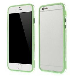 Apple iPhone 6 / 6S Transparant TPU Bumper Case Groen