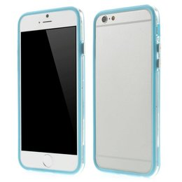 Apple iPhone 6 / 6S Transparant TPU Bumper Case Blauw