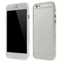 Apple iPhone 6 / 6S Transparant TPU Bumper Case Wit