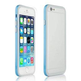 Apple iPhone 6 / 6s Ultra Slim TPU Hybrid Bumper Case Blauw/Wit