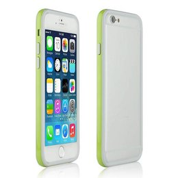 Apple iPhone 6 / 6S Ultra Slim TPU Hybrid Bumper Case Groen/Wit