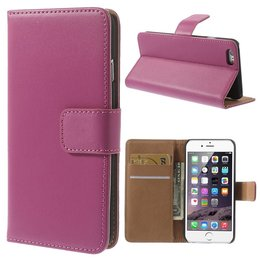 Apple iPhone 6 / 6S Luxe Wallet Portemonnee Donker Roze