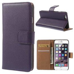 Apple iPhone 6 / 6S Luxe Wallet Portemonnee Paars
