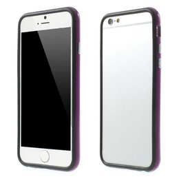 Apple iPhone 6 / 6S TPU Hybrid Bumper Case Zwart/Paars