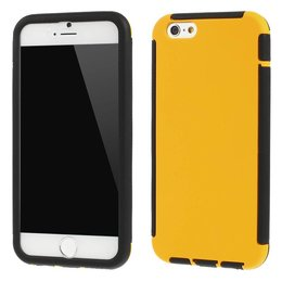 Apple iPhone 6 / 6S TPU Full Body Cover Case Geel