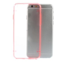 Apple iPhone 6 / 6S TPU Edge Transparant Back Cover Case Roze