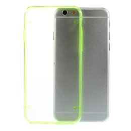 Apple iPhone 6 / 6S TPU Edge Transparant Back Cover Case Groen