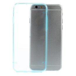 Apple iPhone 6 / 6S TPU Edge Transparant Back Cover Case Blauw