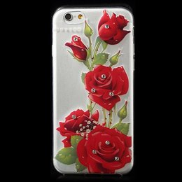 Apple iPhone 6 / 6S TPU Bling Cover Case Roses