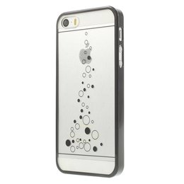 iPhone SE / 5 / 5S Little Bubbles Transparant - Zwart