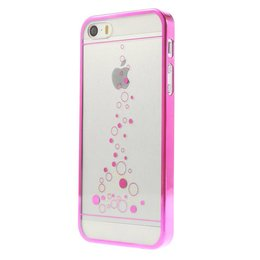 iPhone 5 / 5S / SE Little Bubbles Transparant - Roze