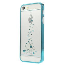 iPhone SE / 5 / 5S Little Bubbles Transparant - Turqoise