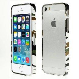 iPhone SE / 5 / 5S Metaal Bumper Camouflage