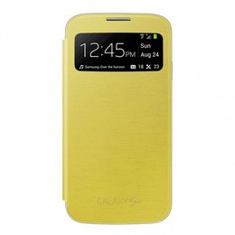 S-View Flip Cover Galaxy S4 - Geel