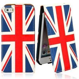 Faux Flip Case UK Vlag iPhone 5 / 5S / SE