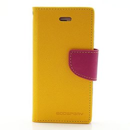 MERCURY iPhone 5 / 5S / SE Wallet Case Portemonnee Geel
