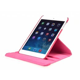 Apple iPad Air 2 Rotating Case Croco Donker Roze