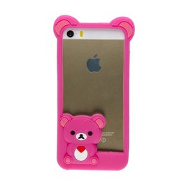 Apple iPhone 5 / 5S / SE 3D Cute TeddyBeer Hoesje Roze