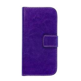 HTC One Mini 2 Portemonnee Bookcase Hoesje Paars