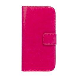 HTC One Mini 2 Portemonnee Bookcase Hoesje Donker Roze