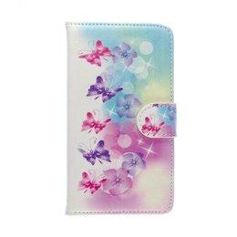 HTC One M8 / M8S Wallet Case Portemonnee Butterfly
