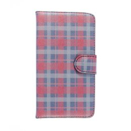 HTC One M8 / M8S Wallet Case Portemonnee Geruit