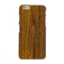 Apple iPhone 6(S) PLUS Wood style houten hoesje Donker Bruin