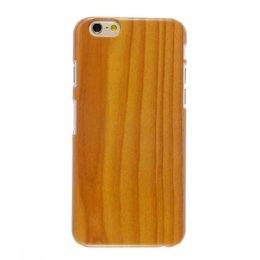 Apple iPhone 6 / 6S Wood style houten hoesje Bruin/Oranje